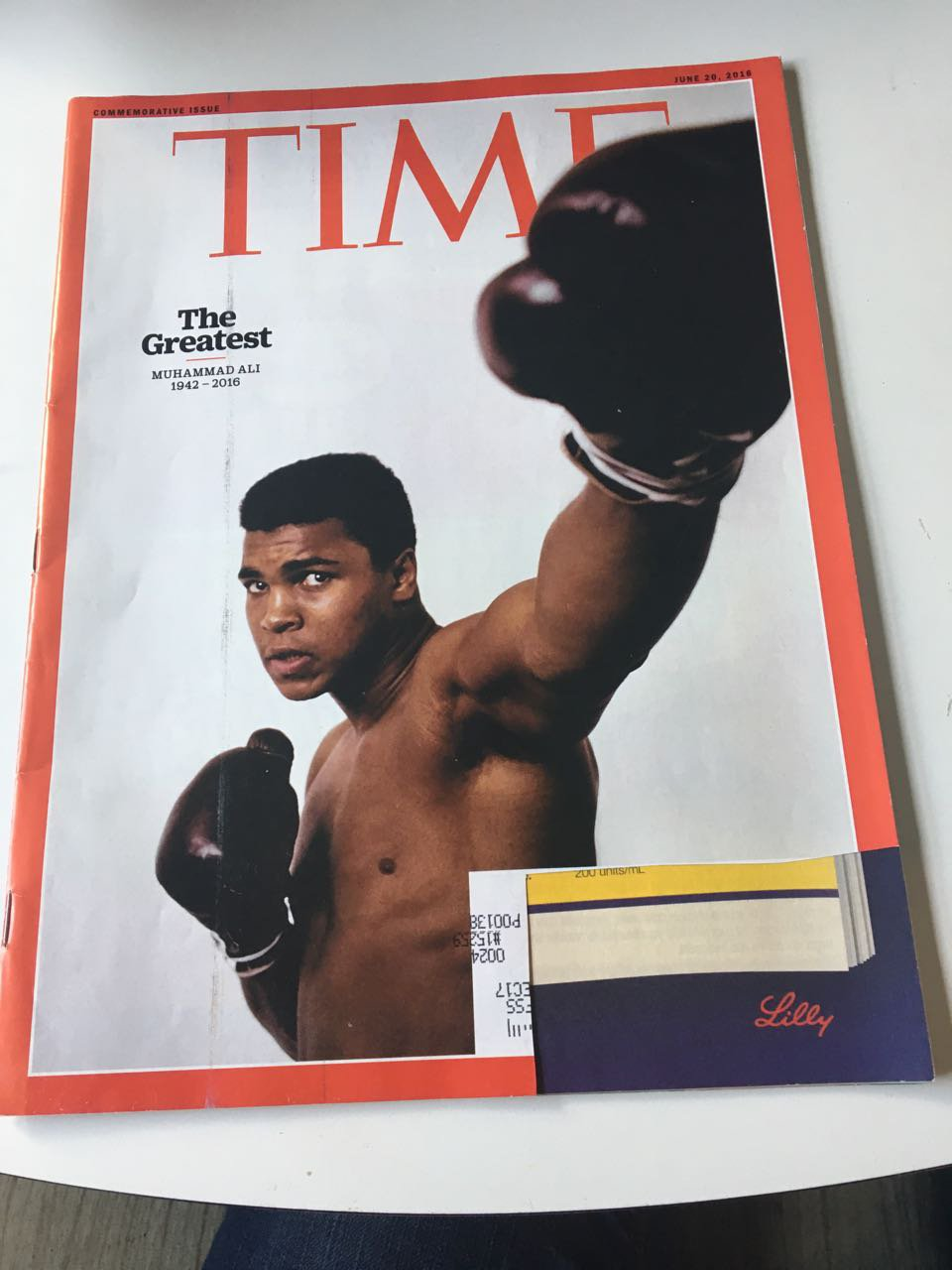 Time Magazine, June 20, 2016 Muhammad Ali The Greatest Comemorative Issue