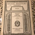 Music Mastery Series Twenty Short Exercises for the Equal Training of the Hands By Wolff