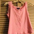 Women's CHAPS Ralph Lauren Sleeveless Lace scoop Neck Tank Top Pink Small S.