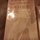 Death Be Not Proud: A Memoir Paperback – July, 1989 by John Gunther