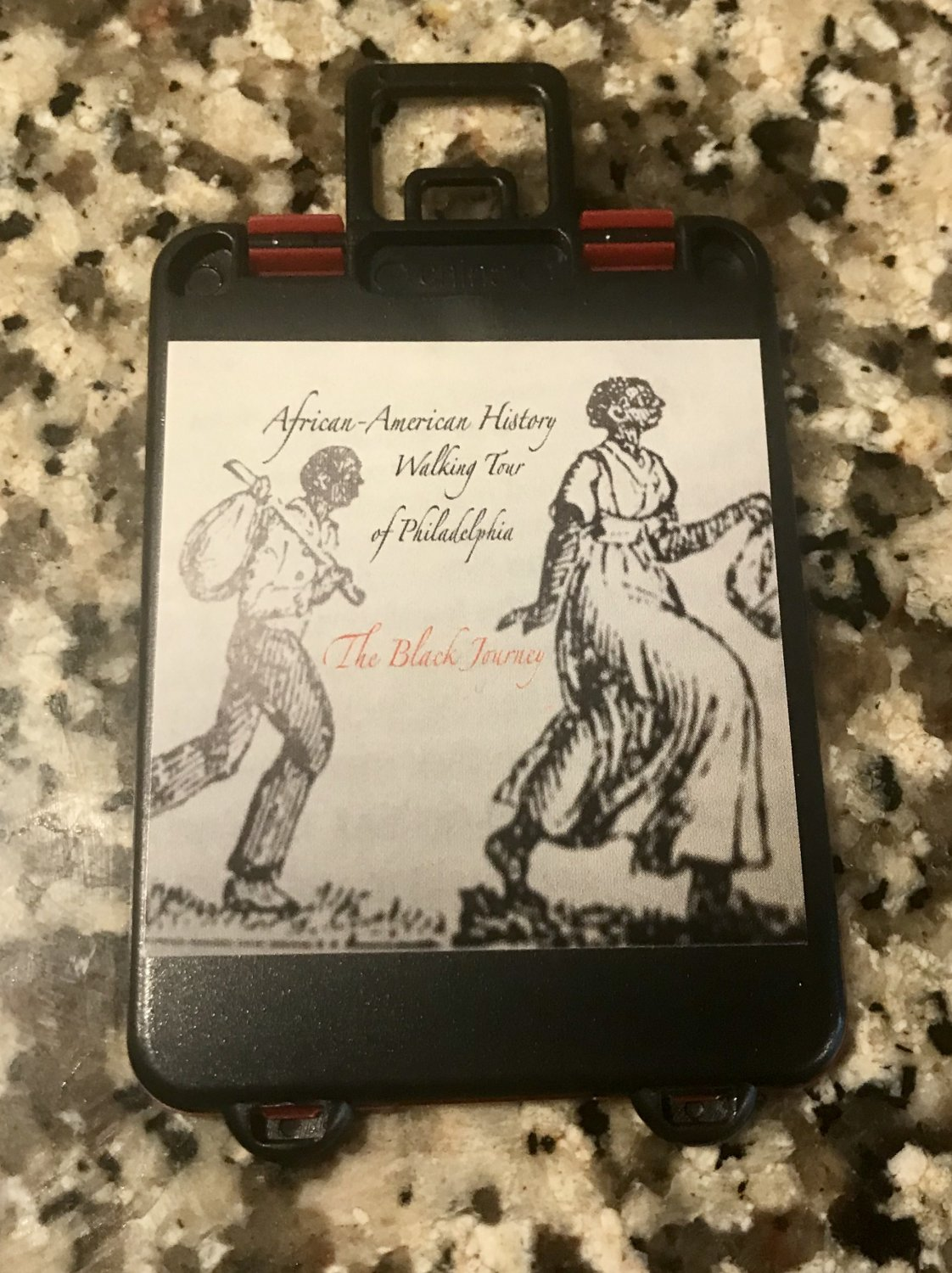The Black Journey Luggage Tag