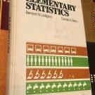 Elementary Statistics 1st Edition Edition by Bernard W. Lindgren (Author)