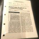 Pennsylvania Benchbook for Criminal Proceedings, Release 14 June 2012