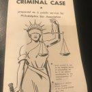 Vintage Handbook for Jurors in a Criminal Case by Philadelphia Bar Association