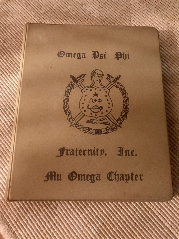 Omega Psi Phi Fraternity Inc., Mu Omega Chapter (Philadelphia) Mini ring Binder