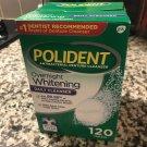Polident Overnight Whitening Antibacterial Denture Cleanser Effervescent 120