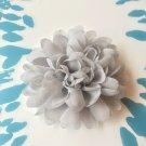 Chiffon Flower - Grey - DIY, Craft, bow, headband