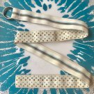 Preppy Reversible Grosgrain Ribbon Belt with silver D ring clasp, size 38.5