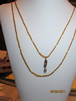 Goldtone Seed Bead Necklace