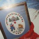 Plastic Canvas Calendar For 1993 - Let It Snow Picture - Coasters