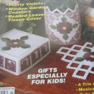 21   New Plastic Canvas Patterns - Pretty Violets - Winter Garden Coasters