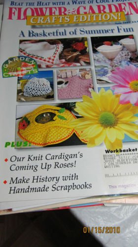 Flower & Garden Crafts Edition - Knit Cardigans - Basketful Of Summer Fun