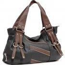 Zipper decorative shoulder bag