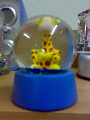 Giraffe crystal Ball