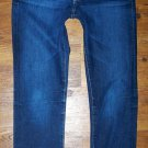 "Womens AG Adriano Goldschmied ""Tomboy Crop"" Dark Relaxed Straight Jeans Size 25"