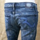 Womens Rock & Republic COSBIE Rare Echo Wash Jeans Size 28 Short or Crop