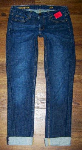 Womens J Crew MATCHSTICK Dark Stretch Slim Straight Jeans Size 28 x 31 * NICE *