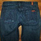 Womens 7 Seven for all Mankind A POCKET Dark Boot Jeans Size 26 x 32