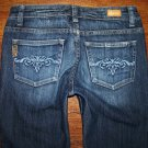 "Womens Paige Denim ""Benedict Canyon"" Dark Boot Jeans Size 27 x 29"