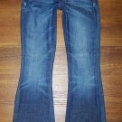 Womens LUCKY Brand ZOE Dark Low Flare Jeans USA Made Size 0 25 x 29  NICE