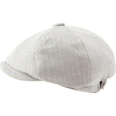 New COAL Considered Newsie Newsboy Hat Khaki Herringbone News Boy Size Medium M