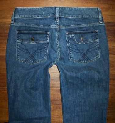 Womens GAP CURVY Stretch Flap Pkt Boot Cut Jeans Size 6 x 31