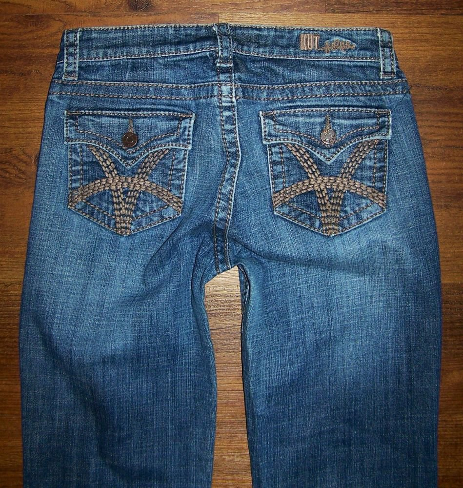 KUT from the Kloth KUT KOLLECTION Flap Pkt Bootcut Jeans Size 6 x 31