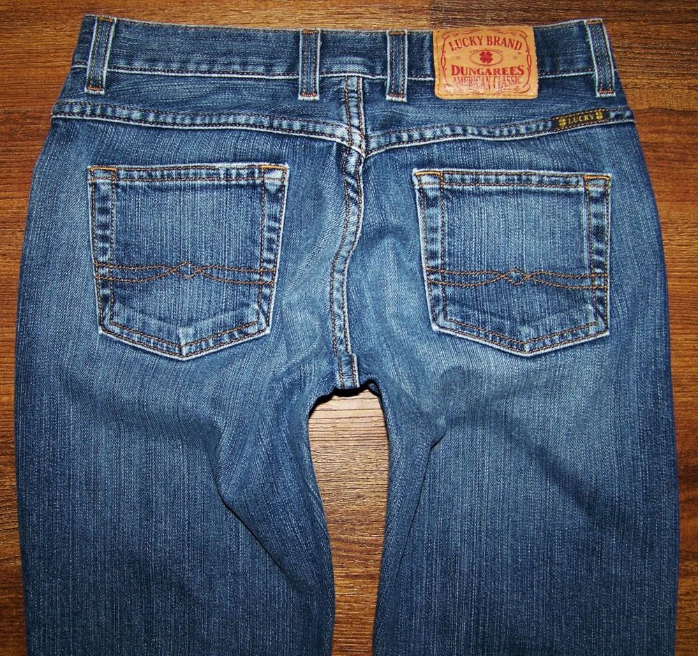 Womens Lucky Brand EASY RIDER Button Fly Boot Jeans Size 0 25 x 31