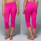 LULULEMON Seamlessly Street Crop Jeweled Magenta Size 8 Pink Yoga Crops NWT