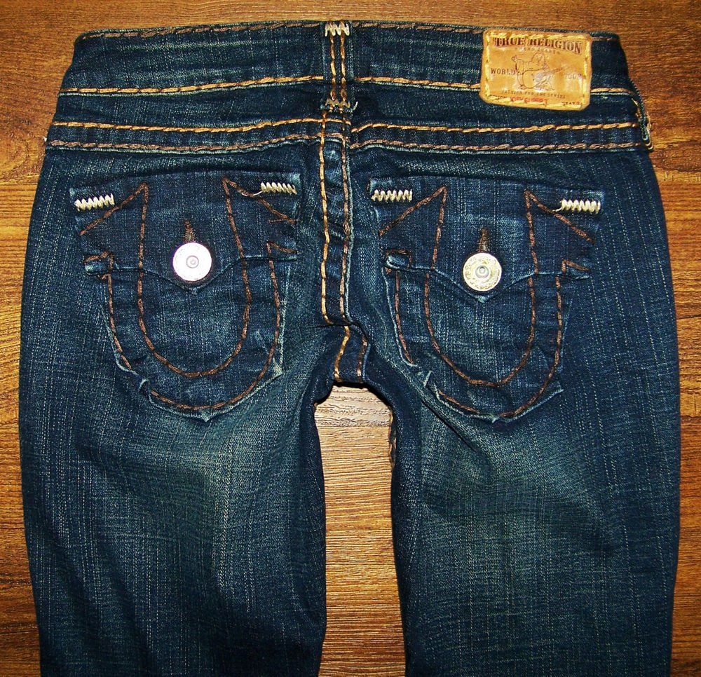 Womens True Religion JOEY SUPER T HERITAGE Twisted Flare Jeans 25 x 32.5
