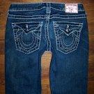 TRUE RELIGION Rhinestone DISCO JOEY BIG T Crystal Bling Flare Jeans Size 27 x 33