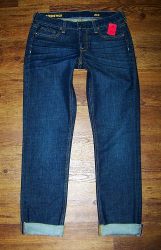 J CREW Dark MATCHSTICK Preppy Stretch Slim Straight Jeans Womens Size 28 x 31