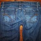 JOE'S Dark FREUD Stretch Flare Cut Joes Jeans Size 27 x 27.5 SHORT