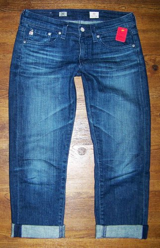 AG Adriano Goldschmied TOMBOY CROP AGed 8 Yr Relaxed Straight Jeans Size 26