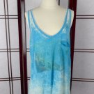 BROKEDOWN Blue Tank Coachella Modern Hippies 70's Inspired Clothing Size M