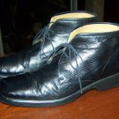 Bally Men's Black Leather Ankle Boots Shoes Size 11 D