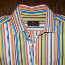Etro Milano Men's Multi Color Striped Long Sleeve Shirt 41 Size M