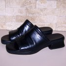Womens Cole Haan Black Leather Sandals Slides Size 5.5