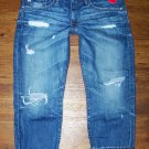 AG Adriano Goldschmied Ex-Boyfriend Crop Ripped 17 Yr Damage AGed Denim Jeans 27