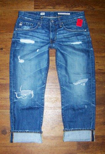 AG Adriano Goldschmied Ex-Boyfriend Crop Ripped 17 Yr Damage AGed Denim Jeans 27