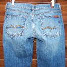 7 For All Mankind Womens Crop Bootcut Jeans Size 27