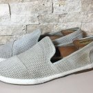 MENS TOMS SABADOS SUEDE LEATHER PERFORATED SLIP-ON ESPADRILLE FLATS SIZE 12