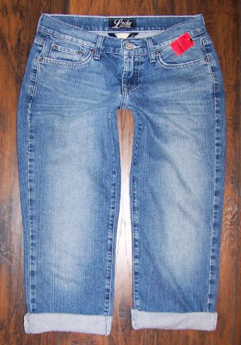 Lucky Brand Easy Rider Crop Capri Blue Denim Jeans Size 4/27