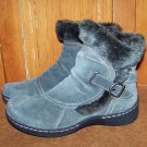 BareTraps Extreme Gray Suede Ankle Boots Womens Size 10 M