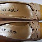 St John Leather Cap Toe Beige Yellow Gold Pumps Shoes Size 6 B