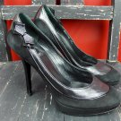CHRISTIAN DIOR BLACK PLATFORM BOW PUMPS HIGH HEELS EUR 39 US 9 ITALY