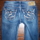 Silver Womens Jeans Suki Surplus Boot Cut 26 x 29