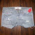 Hollister Distressed Denim Jean Short Shorts Womens Size 0 24