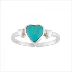 Turquoise Heart Toe Ring