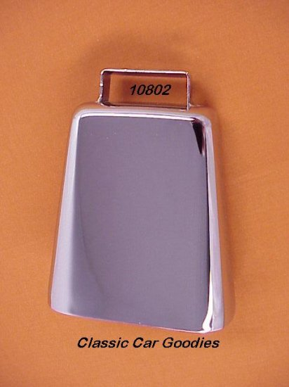 """Cow Bell Chrome 4 3/4"""" 4X4 Truck Off Road Novelty"""